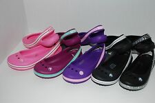 NWT CROCS GENNA II GIRLS PINK BLACK PURPLE 9 10 11 11 12 5 6 slingbacks sandals