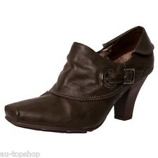 Discount Piccadilly Womens Comfortable Low Heel Bootie Work Shoes 701026 Brown