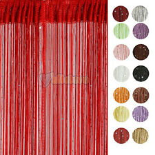 Upick!STRING CURTAIN with BEAD SEQUIN SPANGLE FRINGE PANEL ROOM DOOR DIVIDER