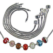 Silver Plated SNAKE Charm BRACELETS for Lampwork Murano BEADS