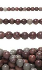 Lot of 10, 16 inch Long Strands of Round Crazy Horse Natural Gemstone Beads