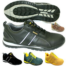 NEW MENS LEATHER WORK SAFETY STEEL TOE CAP LADIES HIKER BOOTS SHOES TRAINERS