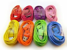USB 30-PIN SYNC CHARGER CABLE iPHONE iPOD 3GS 4 4S 8 COLORS RED PURPLE PINK BLUE