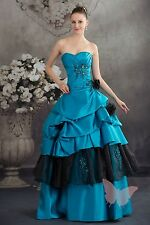 Tulle Beaded Top PROM/BALL/WEDDING Dress Bridal GOWN SIZE18,20,22,24,26,28