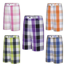 Adidas Mens Fashion Frat Performance Plaid Preppy Golf Shorts