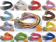 NEW Lots 20/50/100pcs Braid Rope Leather Bracelets Many Colors To Choose