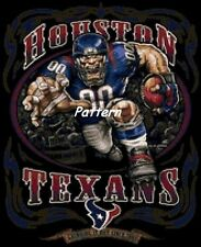 Houston Texans Mascots, etc. Cross Stitch Pattern. Paper Version or PDF Files.