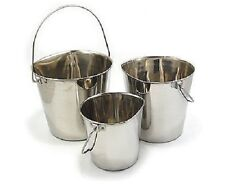 Stainless Steel Flat Pails for Dogs from Leerburg