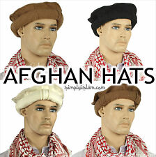 Afghan Hat Pakul Pakol 100% Wool Taliban Style 6 Colours