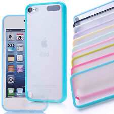 Soft Frame Transparent White Hard Back Case Cover For Apple Ipod touch 5 Skin