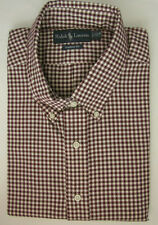 NWT Ralph Lauren Button Down Dress Shirt Burgundy BIG & TALL Sizes