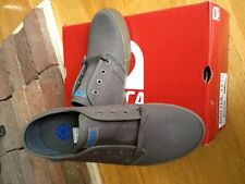 Circa Mens Grey Drifter Canvas Skate Casual Skate Shoes Grey New in box
