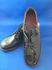 School shoes dress shoes womens black leather military issue lace up baxter