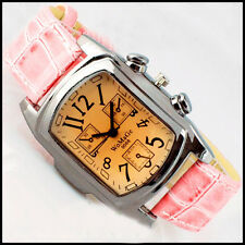 NEW Leather Quartz Mature Womens Fashion Noble Brown Surface Wrist Watch Keep