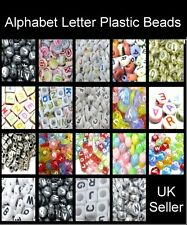100 Pcs Alphabet Letter Plastic Beads - Random Mixed - Various Style - UK Seller