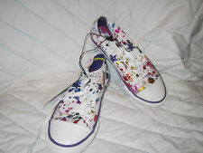 NEW Youth Converse One Star white/multi foil star sparkle bright star purple