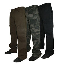 NEW MENS KAM JEANS KBS 118 DESIGNER RELAXED FIT COMBAT CARGO PANTS BIG KING SIZE