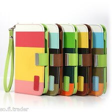 Hybrid Leather Wallet Flip Pouch Case Cover For Samsung Galaxy Note ll 2-N7100