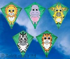 JUNGLE TOTS CHILDRENS DIAMOND ANIMAL KITES. 5 DESIGNS