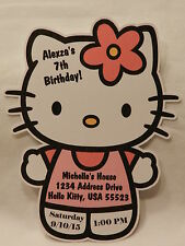 UNIQUE PERSONALIZED HELLO KITTY BIRTHDAY BABY SHOWER PARTY FAVOR INVITATIONS