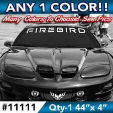 "PONTIAC FIREBIRD WORD WINDSHIELD DECAL STICKER 44""w x4""h in ANY COLOR"