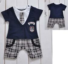 E1920 Boys Baby Formal Suit Romper Jumpers 1pcs Gentleman Clothes sets cool0-24M
