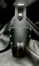 Premium Leather Drink Holder Snaps on Belt or Motorcycle - Customizable Options!