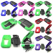 VHS Solid Hybrid Kickstand Hard+Silicone Case - Huawei Ascend Y M866/H866C Phone