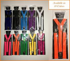 2X Mens Womens Clip-on Suspenders Elastic Y-Shape Adjustable Braces