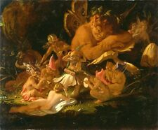 "Joseph Noel Paton : ""Puck and Fairies, Midsummer Night's Dream"" — Fine Art Print"