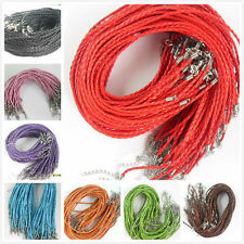 Wholesale Free Ship Leather Braid Rope Hemp Cord For Necklace Lobster Clasp 46cm