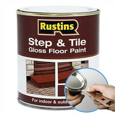 Rustins Step & Tile Red Gloss Paint For Indoor & Outdoor with FREE TIN OPENER