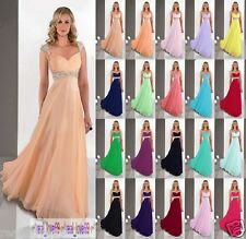 Floor Length Chiffon Evening Formal Party Prom Bridesmaid Dress Stock Size 6-16