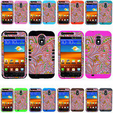 Flowers on Pink Hybrid Cover Case for Samsung Galaxy S II S2 R760 US Cellular