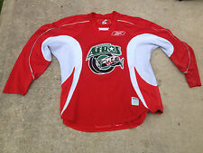 Reebok Houston Aeros AHL Pro Stock Red Practice Jersey 12 Baldwin