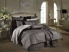 Sheridan LUSANNE CAVIAR Grey Doona/Duvet/Quilt Cover Queen/King Size Bed  New