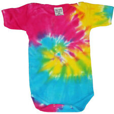 Tie Dye infant baby t-shirt tee shirt one piece romper snap suit cute tye dyed