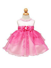 Cute 3 Tier Baby Dress Infant Toddler Flower Girl Birthday Beauty Pageant Kids