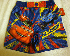 TODDLER BOYS DISNEY LIGHTNING MCQUEEN LINED SWIM TRUNKS   UPF/UV 50+ SUN  NWT