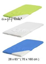 IKEA LEN Kids Fitted SHEET Cotton Elastic for Small Junior Beds White Blue Red