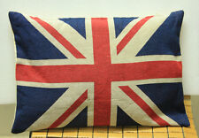 1PCS UNION JACK BRITISH FLAG TAPESTRY PILLOW CASE CUSHION COVER 17x17""
