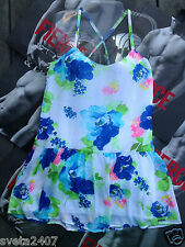 New Sexy $68 Abercrombie & Fitch A&F Floral Chiffon Summer Dress S M
