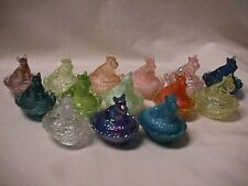 BOYD GLASS SCOTTIE DOG SALT-CHOICE OF COLORS # 43 to # 57