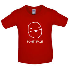 Poker Face - Kids / Childrens T-Shirt-Free UK Delivery - Funny - Present - Gift