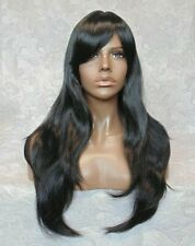 Long Layered Straight Black,Auburn,Blonde Full Synthetic Wig Wigs - #88