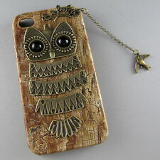 Hot Owl With Branch Bird Pendant Wood Hard Case Cover For iPhone 4S/4/5 5S an153