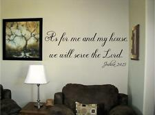 As for me and my house we will serve Vinyl Wall Decal Stickers Decor Letters