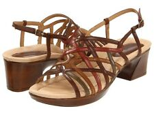 Women's Earth Slingback Run Around Sandal Wisteria Bat Multi Brown Leather