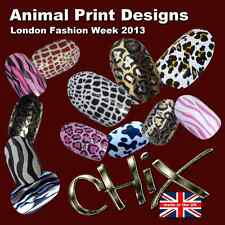 CHIX Nail Wraps ANIMAL Range CHOOSE ANY 3 PACKS Lynx 66 Foils FREE DELIVERY