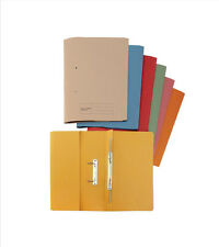 25 x COLOURED TRANSFER SPRING FILES WITH POCKET~Fits A4/Foolscap~HEAVY WEIGHT ¸